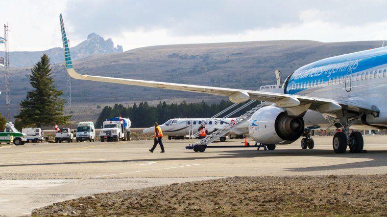 El avión llegará al mediodía a San Martín de los Andes.