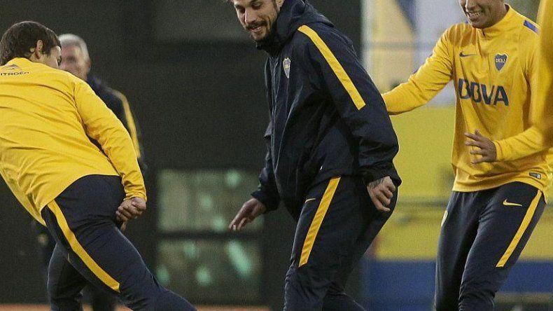 Osvaldo volvió a la práctica y podría regresar contra el Globo.