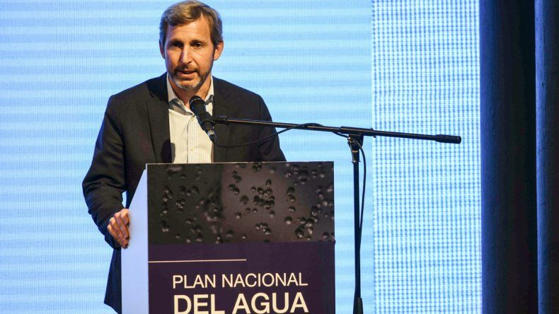 Rogelio Frigerio presentó el Plan Nacional del Agua.