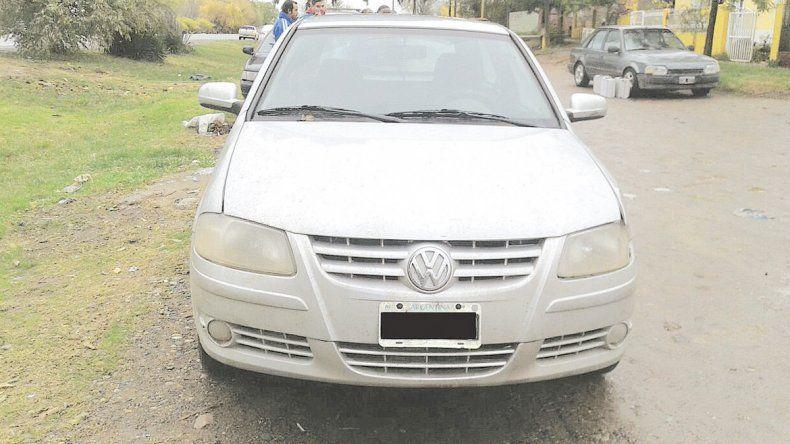 El VW Gol de Zalazar que deberá ser peritado por Criminalística.