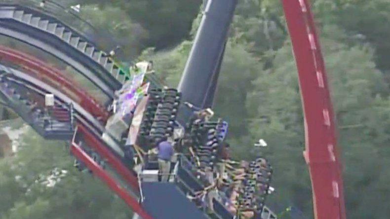 Imagen captada de la TV del momento del rescate.