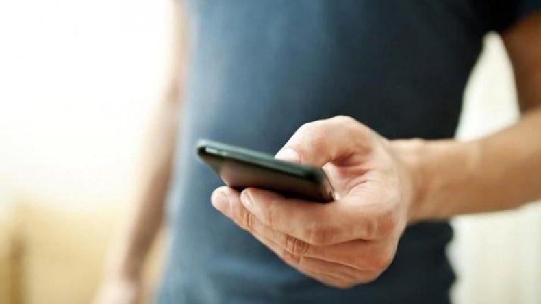 Vía sms