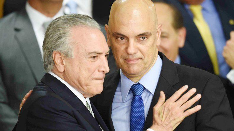 Michel Temer y su ministro de Justicia