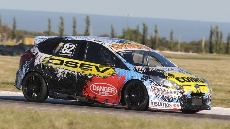 El uruguayo con Ford Focus metió un tiempo de 1m 33s 019.