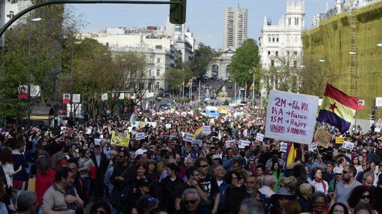 Los indignados celebraron cinco años del #15M con movilizaciones