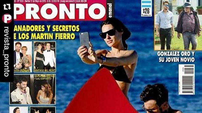 La pareja fue retratada mientras disfrutaba de un día de playa en la costa española.