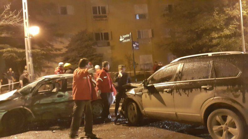 Choque en Avenida Argentina y Pinar.