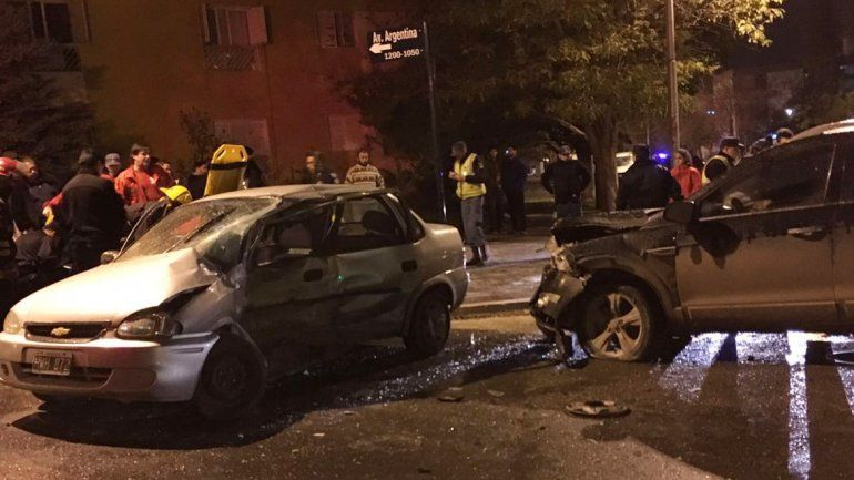 Accidente en Avenida Argentina y Pinar.
