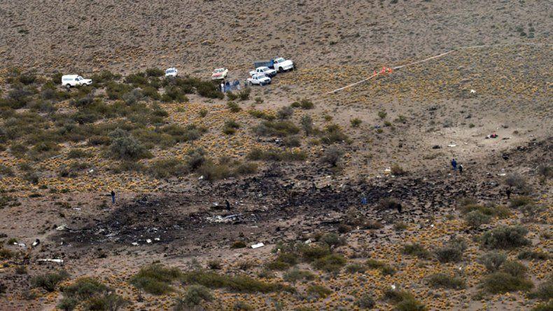 Vista aérea de la zona de Los Menucos donde hace 5 años se precipitó el avión de la empresa Sol.