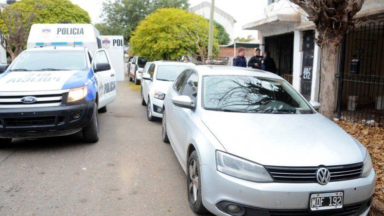 El VW Bento que tenía pedido de secuestro en Pigüé.