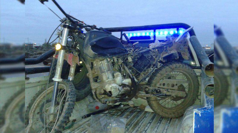 Un motociclista herido tras un choque en la Autovía Norte