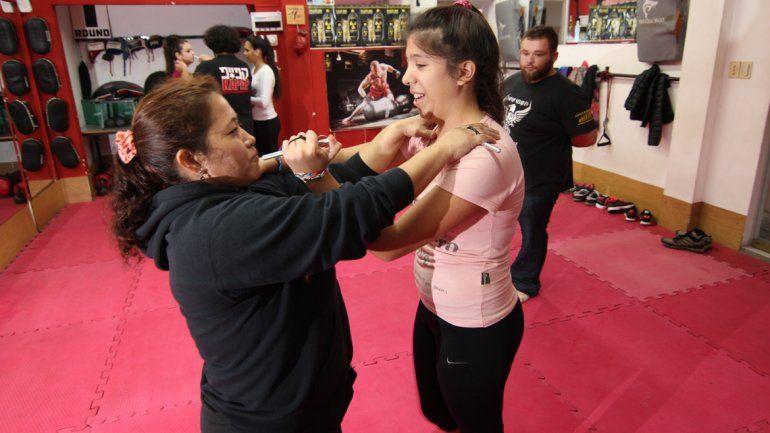Las prácticas les dan fuerza y seguridad a las mujeres para poder enfrentar a ladrones