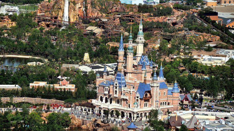 El castillo de Disneylandia Shanghái