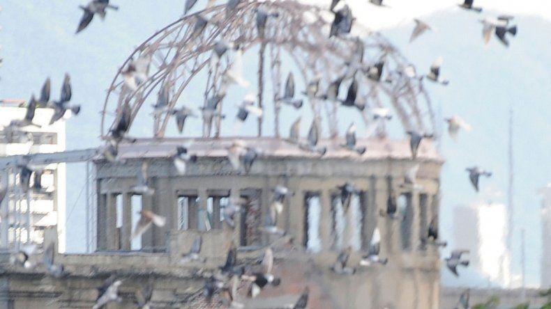 El Memorial de la Paz de Hiroshima donde explotó la bomba.