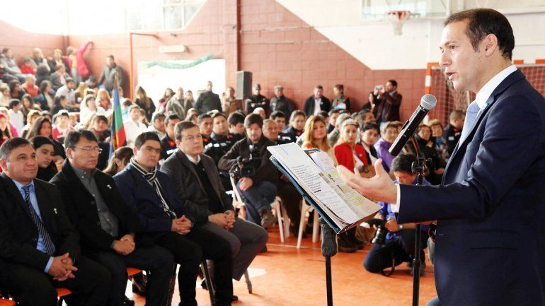 Gutiérrez encabezó el acto por el 43º aniversario de San Patricio del Chañar.
