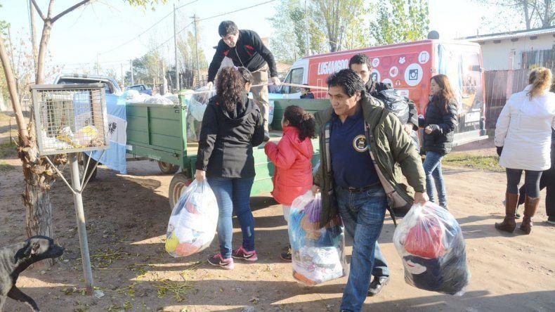 Las donaciones recolectadas la semana pasada fueron entregadas ayer a La Casita de Don Raúl.