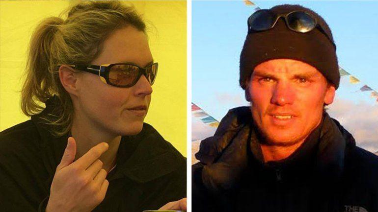 La australiana Maria Strydom y el holandés Eric Arnold
