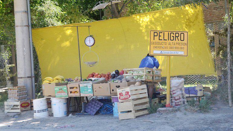 Los puestos de verdura florecen una y otra vez en las calles de Neuquén. Aseguran que no es una cuestión de supervivencia sino de viveza.