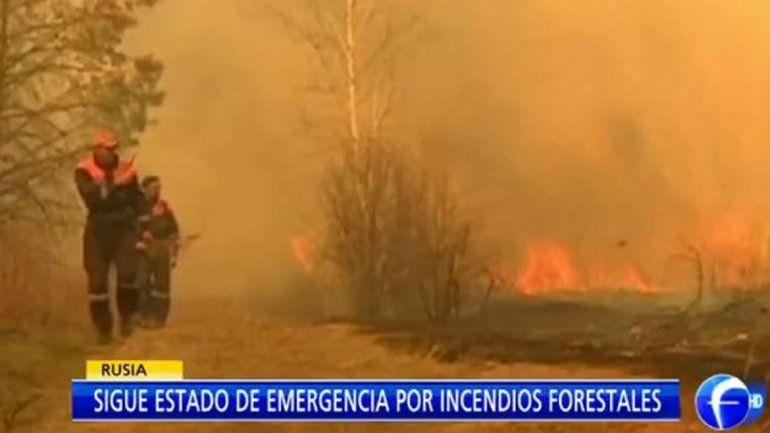 El fuego arrasó más de 15 mil hectáreas en un día en Rusia