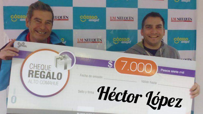 Héctor  de Confluencia ya tiene sus 7 mil pesos para gastar en el shopping