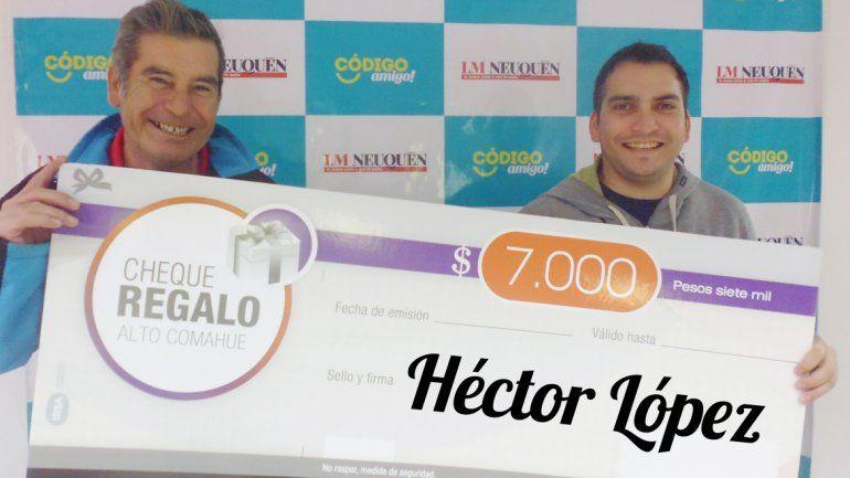 Es el ganador del viernes del sorteo de LM Neuquén junto con Alto Comahue