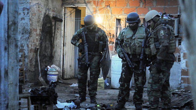 Policías en la zona sur del conurbano