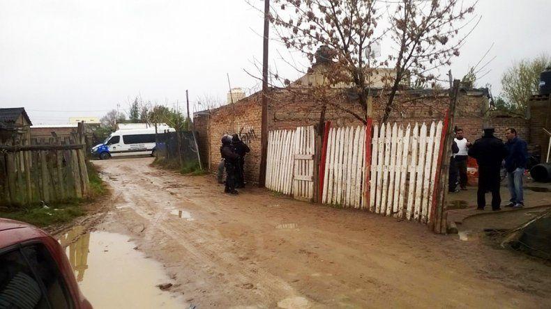 La Metropolitana en uno de los allanamientos en Toma La Familia.
