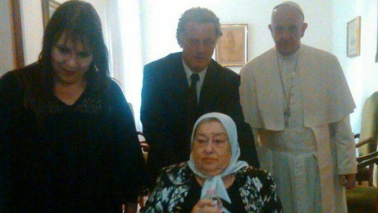 Hebe reconoció que se había equivocado respecto al Papa