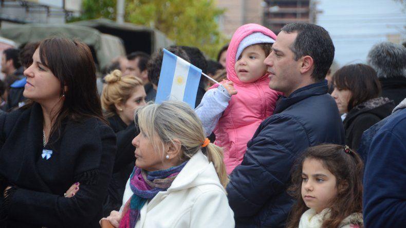 Las familias disfrutaron del desfile.