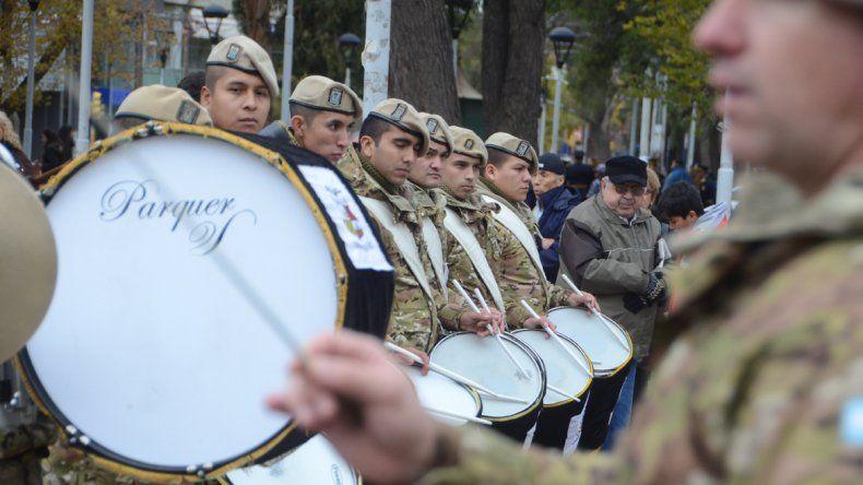 Los músicos del Ejército también fueron parte.