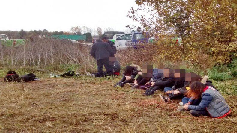 Las ciudadanas chinas rescatadas de sus captores.