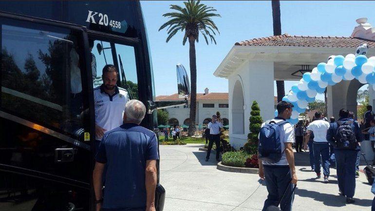 La Selección argentina ya se encuentra alojada en el Mansion Hayes Hotel de la ciudad californiana de Santa Clara