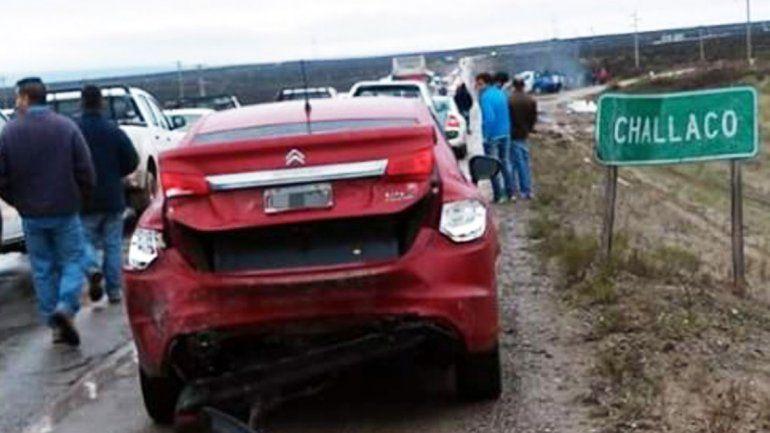Heridos en un accidente en cadena sobre la Ruta 22