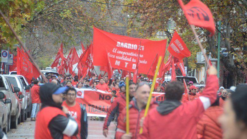 El MTD marchó por el centro en demanda de obra pública