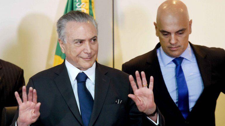 Michel Temer dice que no culpará a Dilma por la crisis del país.
