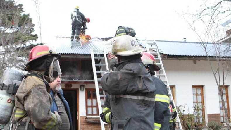 Una casa se incendió dos veces en menos de 24 horas