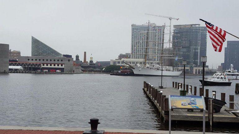 Tras 25 días de travesía, la Fragata Libertad llegó a Baltimore