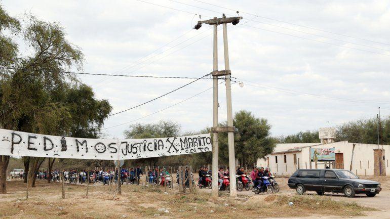 Los restos de Mario Salto fueron inhumados ayer en Quimilí.