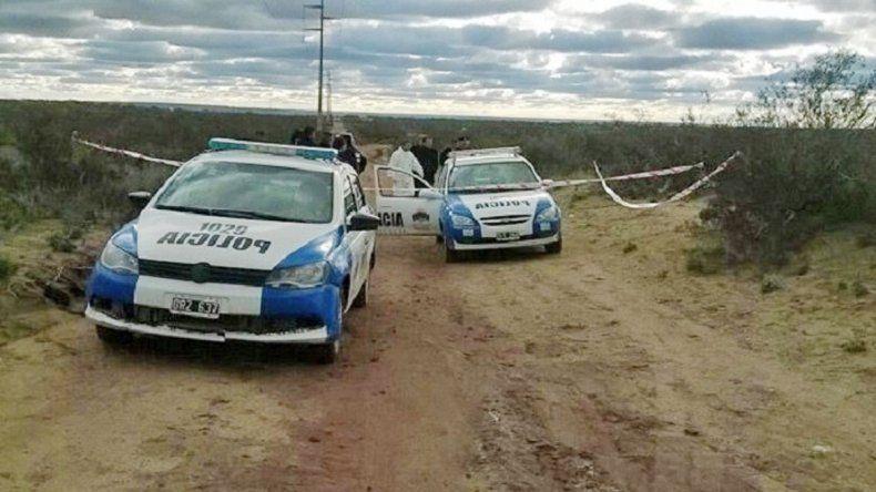 La Policía cercó la zona donde apareció el cadáver
