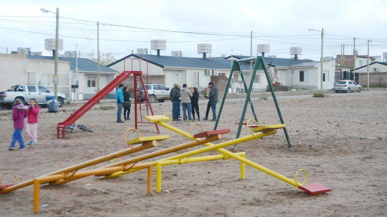 El predio del barrio Terrazas del Neuquén donde se hará el playón.