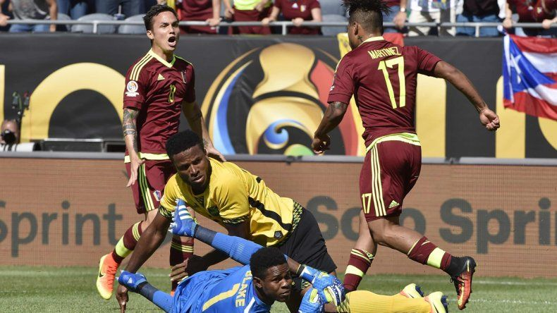 En su debut copero, Venezuela derrotó por 1 a 0 a Jamaica
