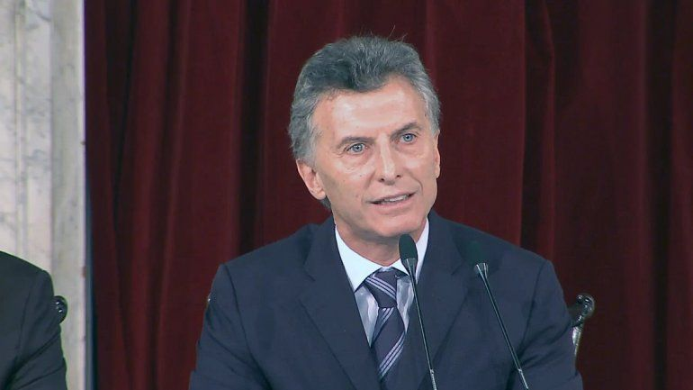 El presidente Mauricio Macri encabezó un acto en Lavallol.