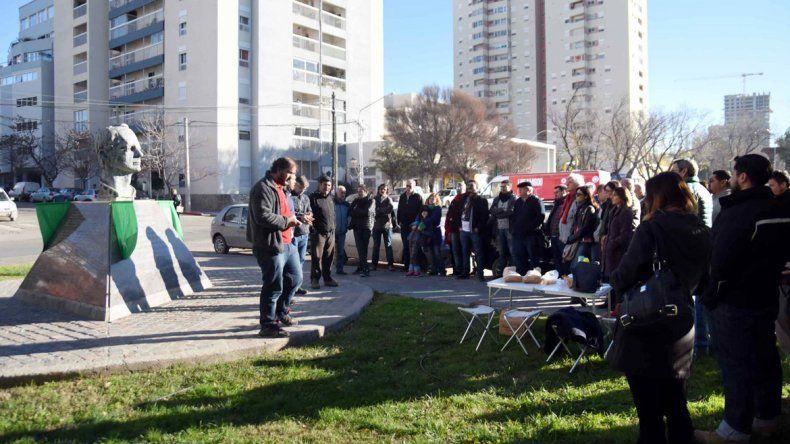 Trabajadores de toda la región participaron del acto ayer a la mañana.
