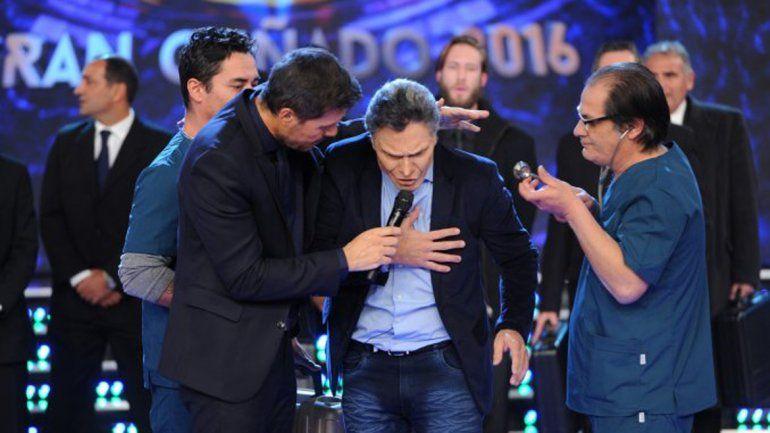 Marcelo Tinelli y el imitador del presidente Mauricio Macri.