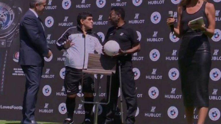 Exabrupto de Maradona con Pelé: dijo que Messi no tiene personalidad