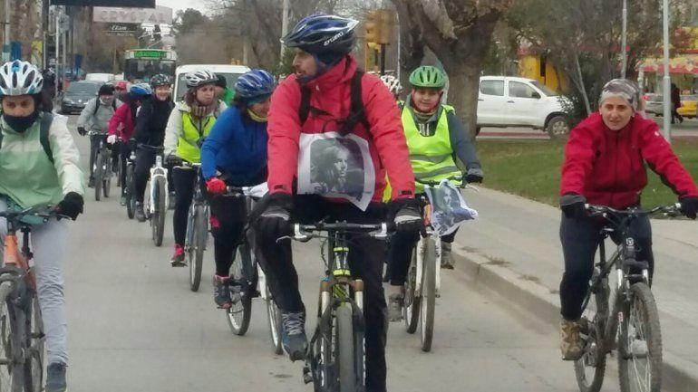 Bicicleteada a 16 años de la muerte de Silvia Rogetti.