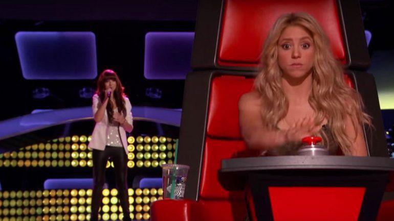 Shakira quedó gratamente sorprendida cuando escuchó la voz de Grimmie.