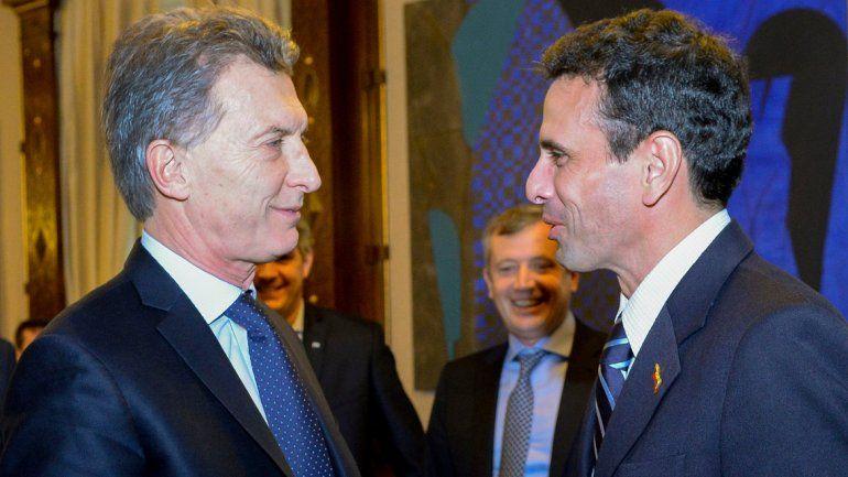El Presidente recibió ayer al principal opositor del gobierno venezolano.