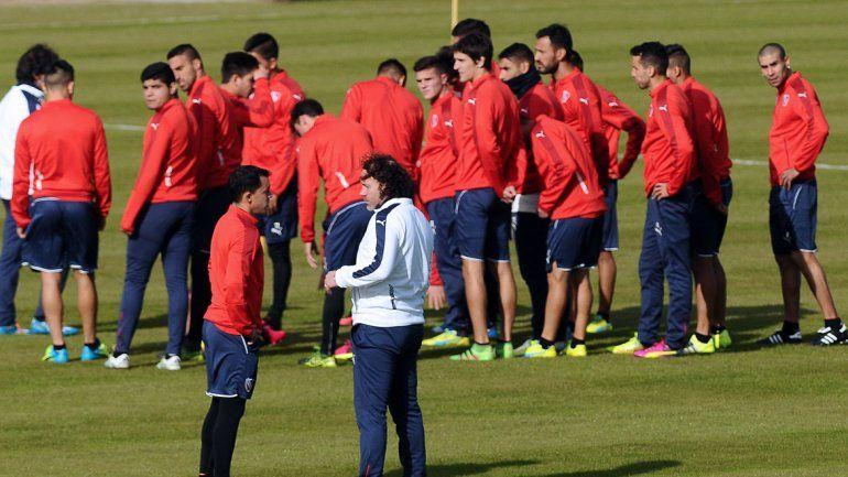 El Mariscal dirigió su primer entrenamiento en Independiente.