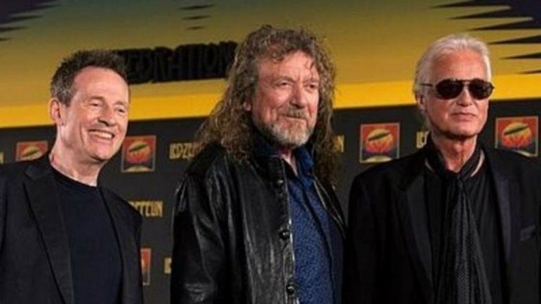 Robert Plant (voz) y Jimmy Page (guitarrista) de la histórica banda.